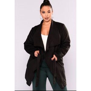 Faux Wool Coat